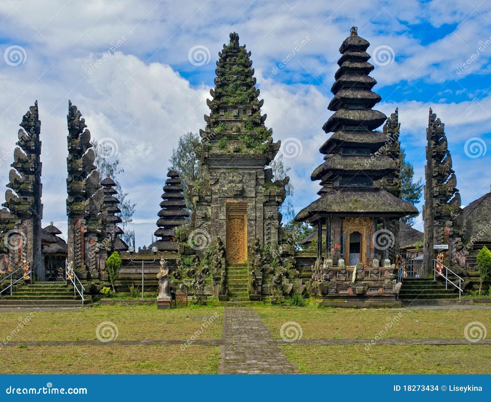 Orientaliskt tempel för balinese