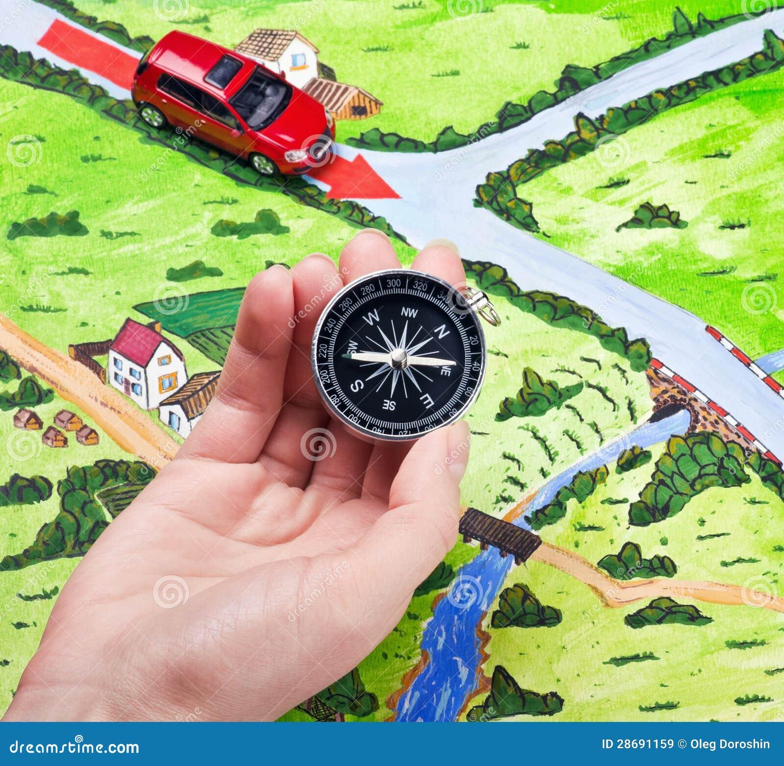 Orientamento della bussola immagine stock immagine di for Atlante compass
