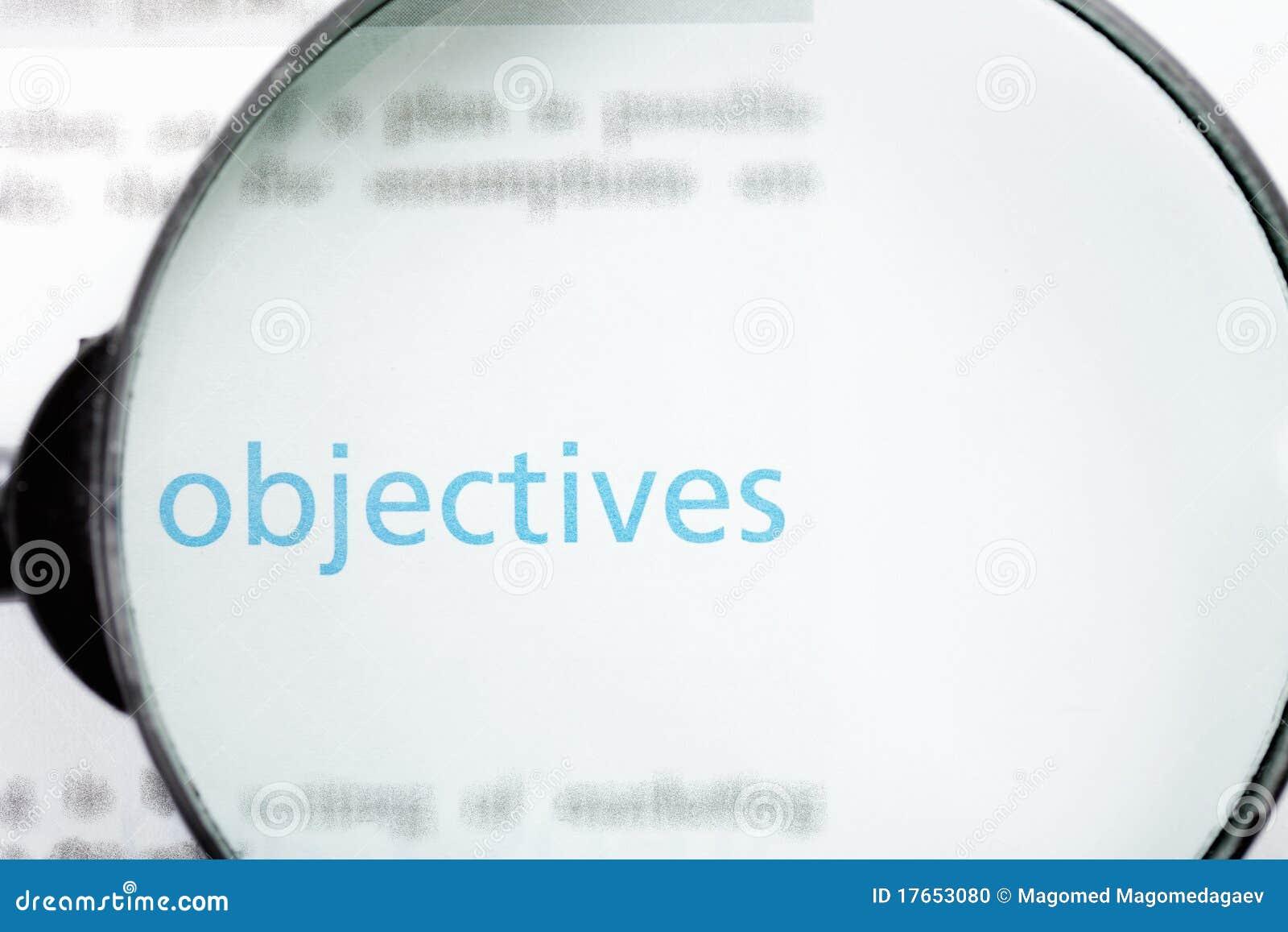 Orientation sur des objectifs