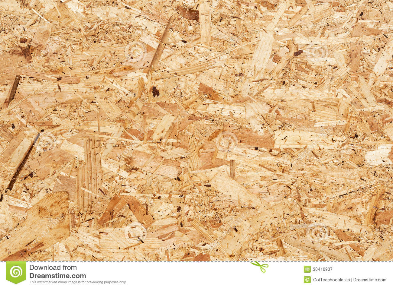Oriented Strand Board : Oriented strand board stock image of plank sawdust