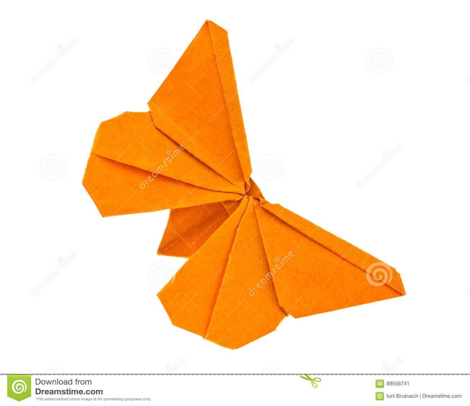 Origami橙色蝴蝶