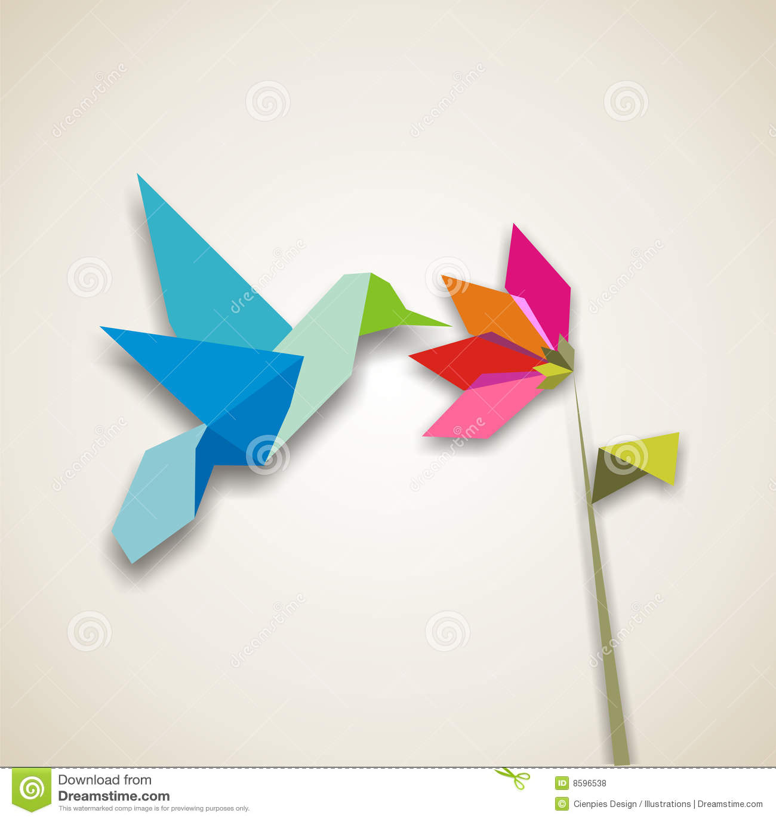 Origami κολιβρίων