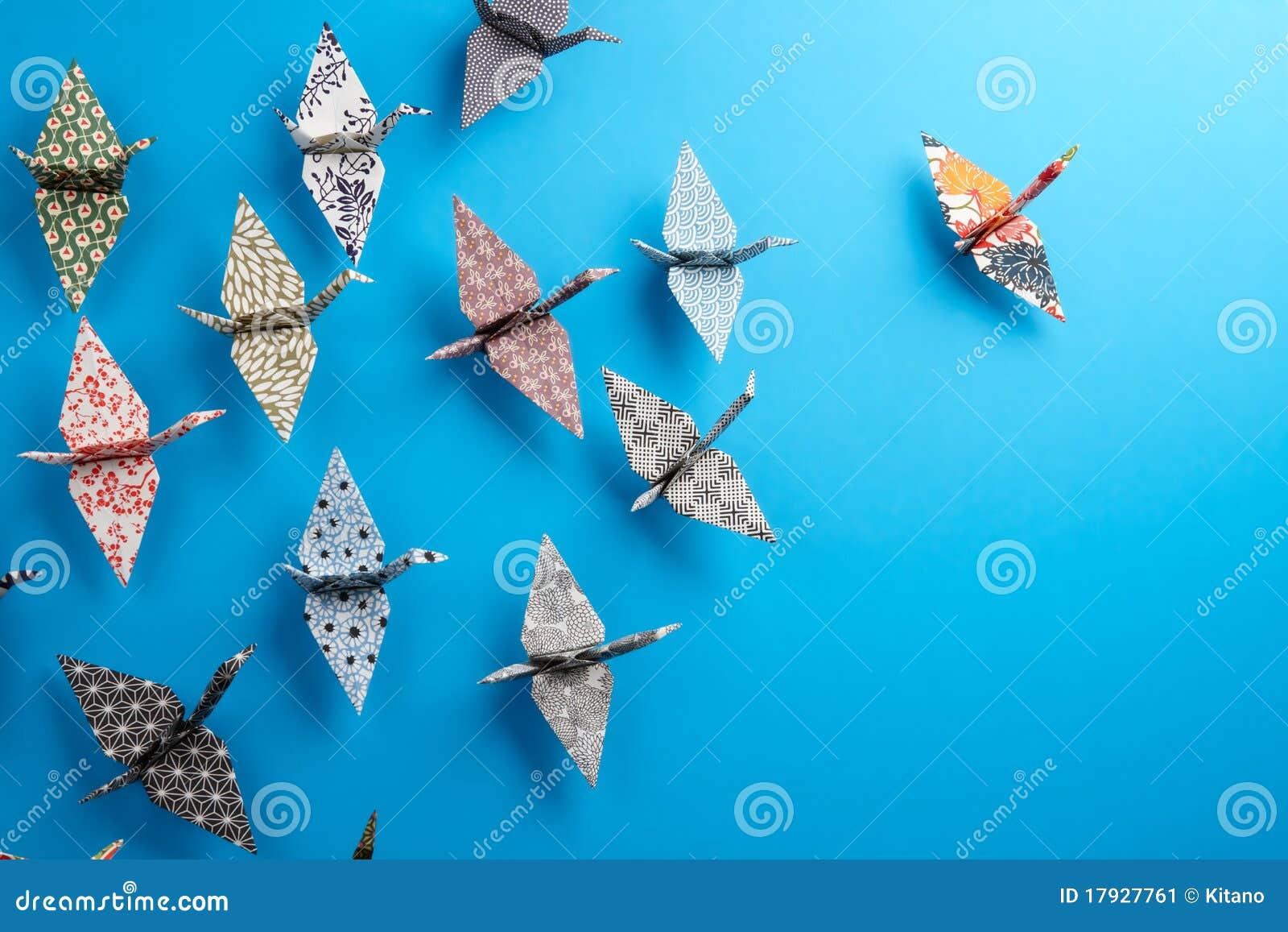 Origami группы птиц