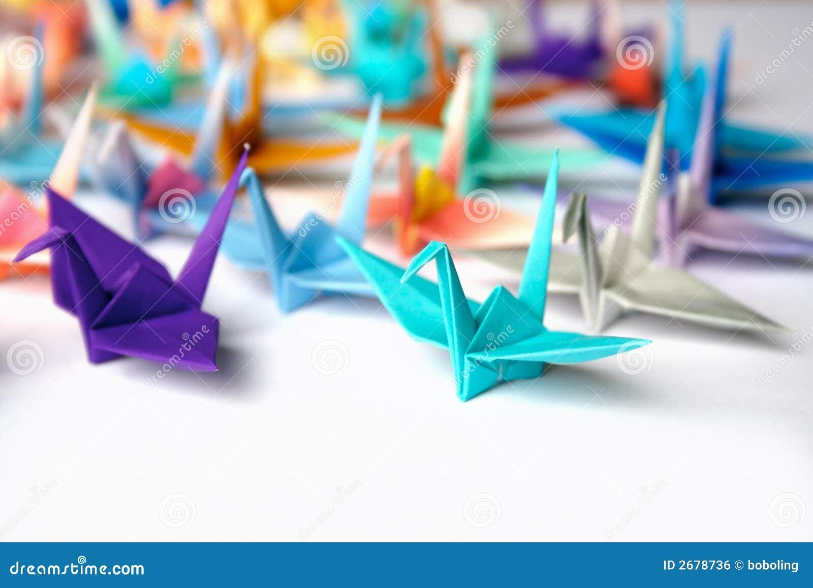 Origami птиц