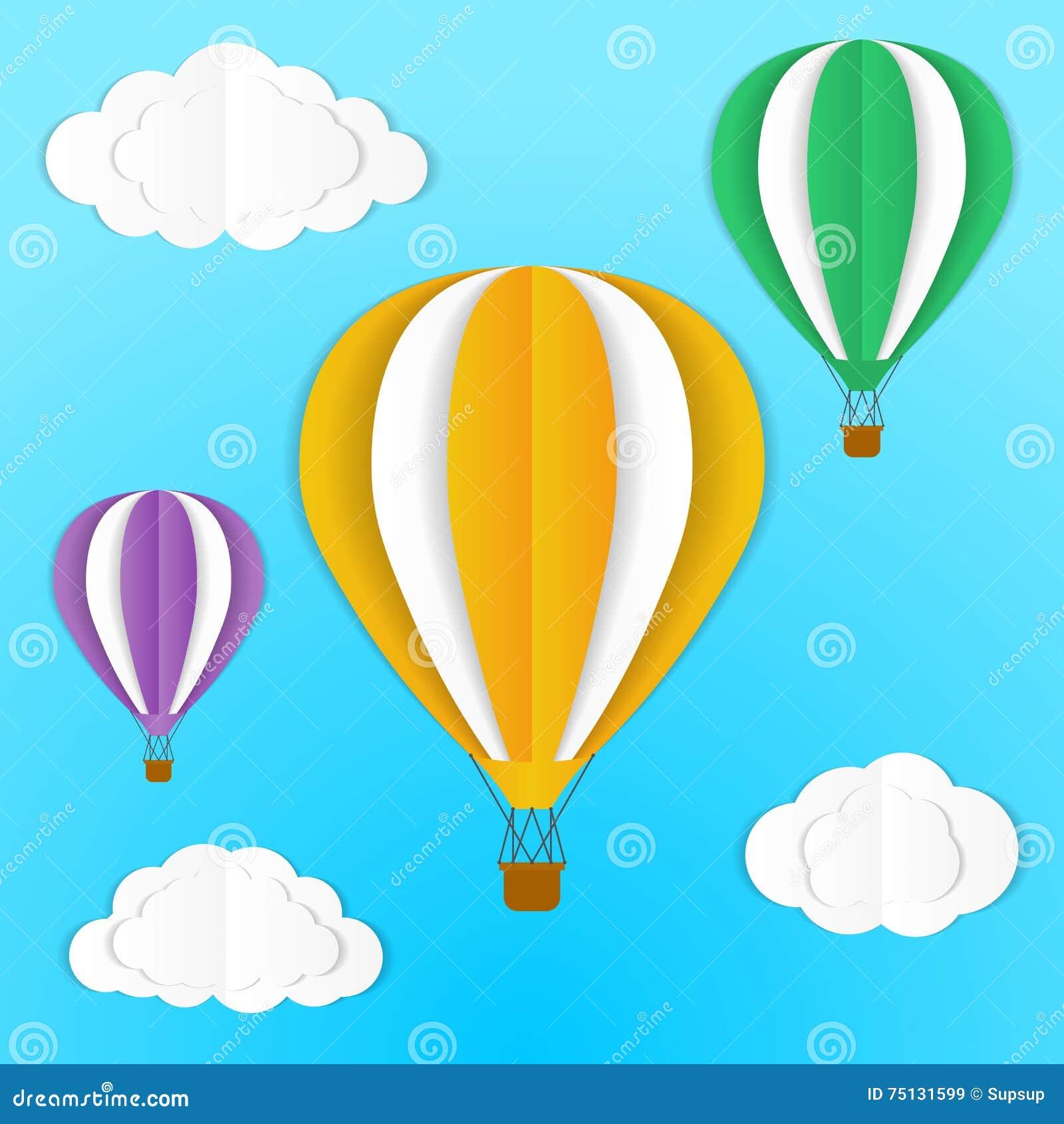 Origami air balloons stock vector illustration of model 75131599 origami air balloons jeuxipadfo Choice Image