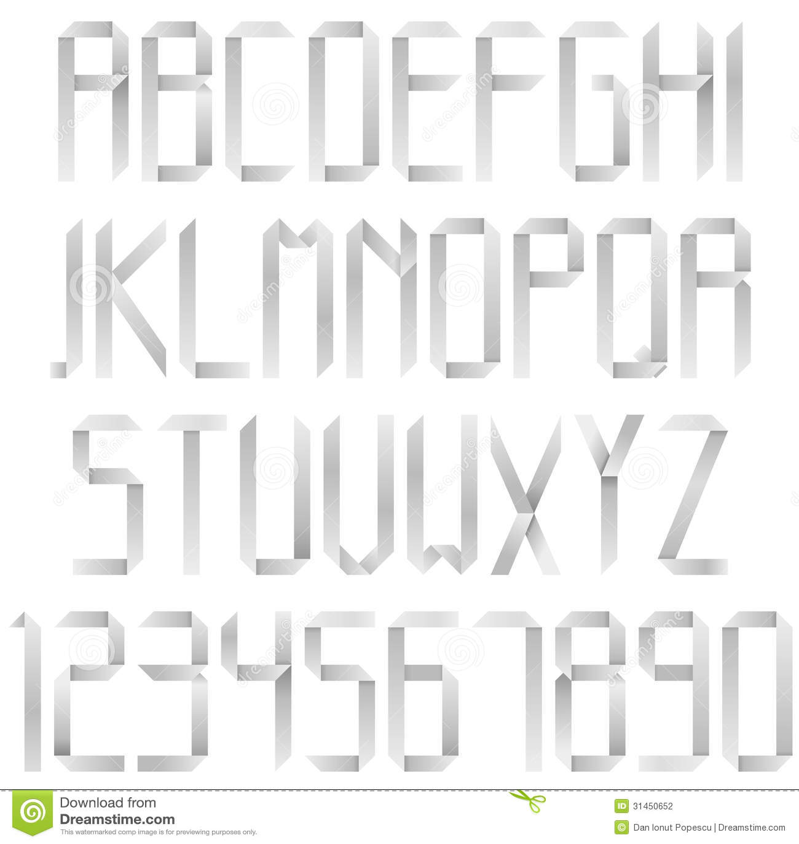Origami Alphabet Stock Photography Image 31450652