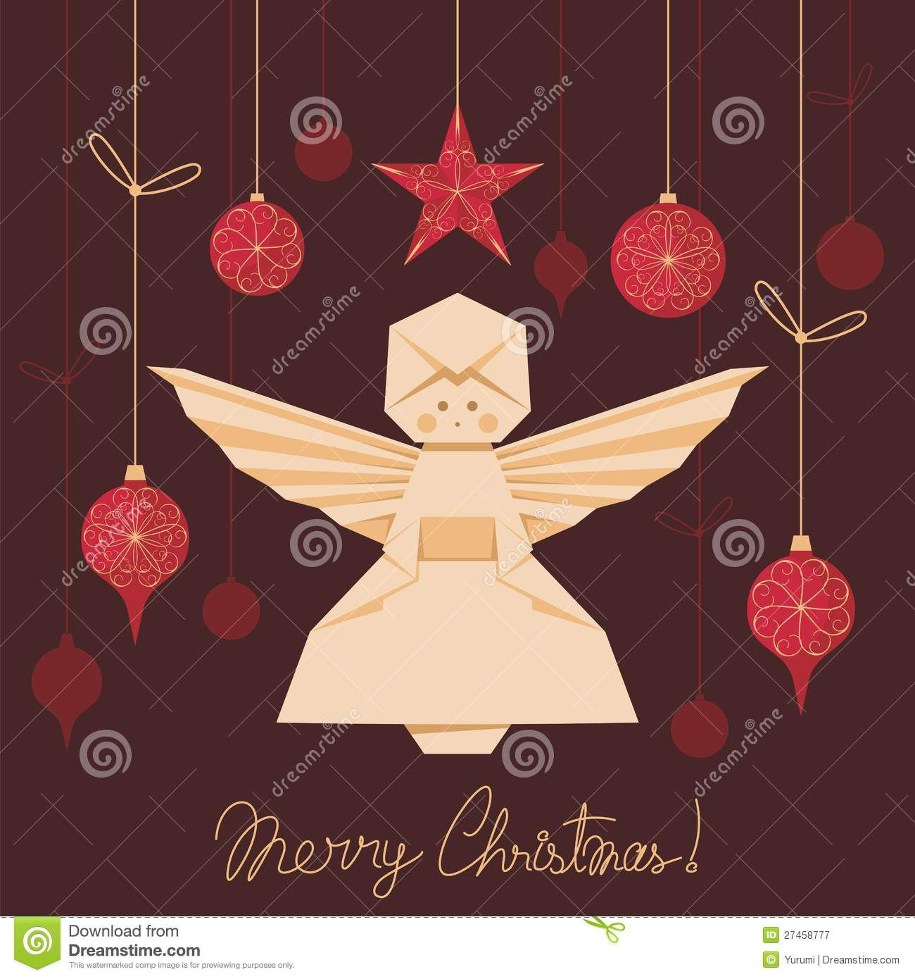 Origami Angel Background Royalty Free Stock Photography ... - photo#26
