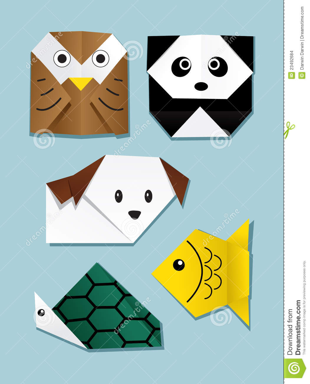 Origami Animal Stock Vector Illustration Of Group Symbol 23492684