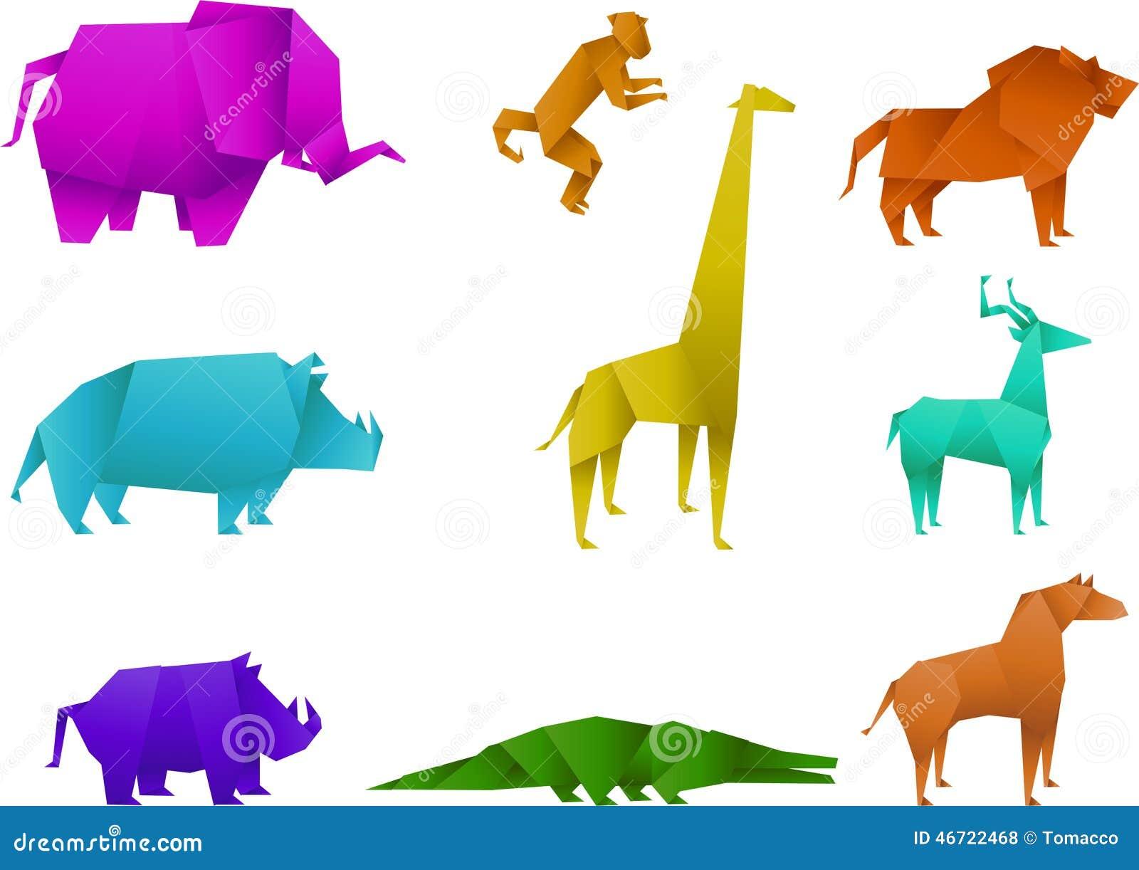 Origami Animals Stock Illustration Of Rhino