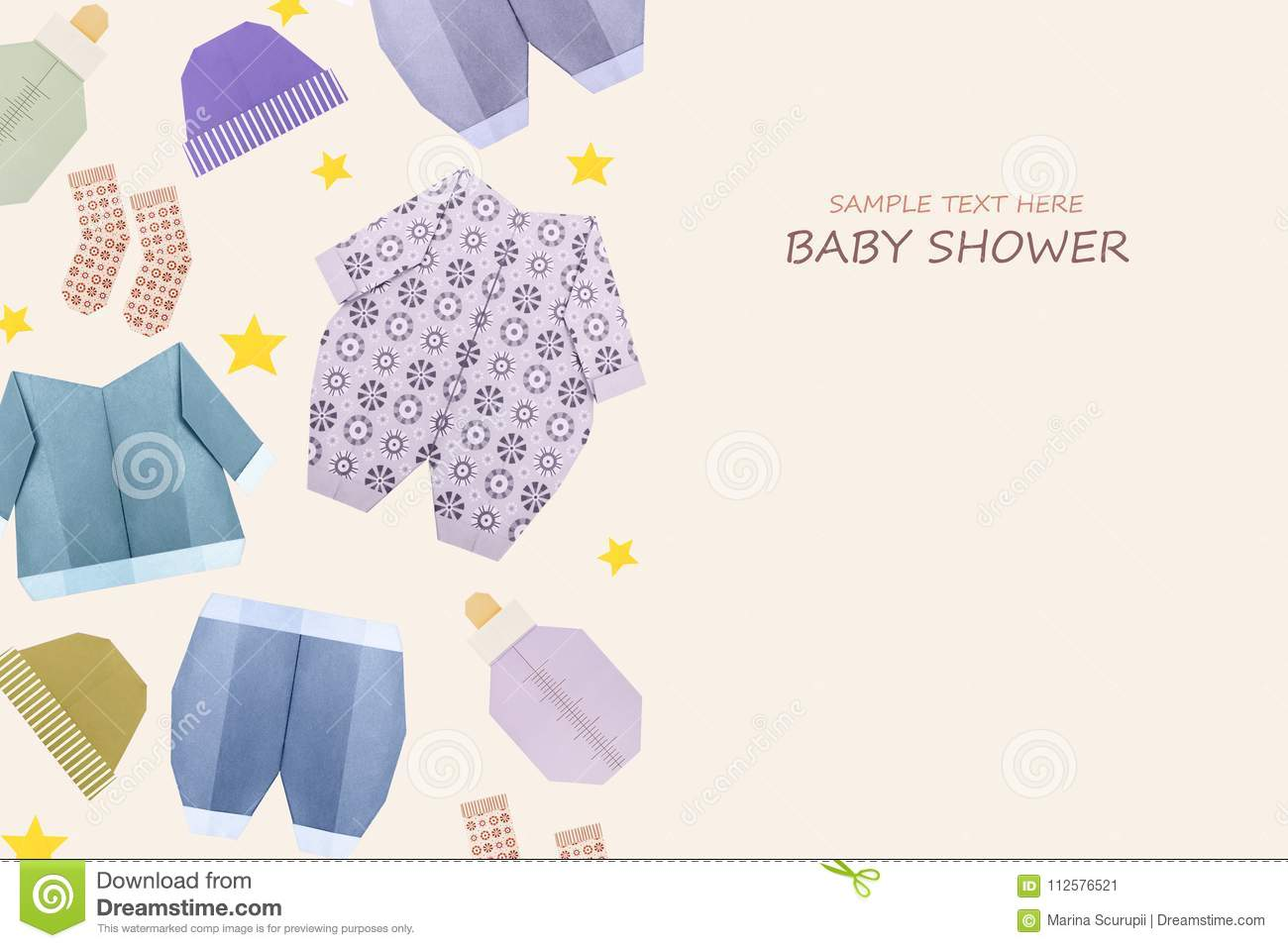 Origami Baby Boy Shower Stock Image Image Of Shower 112576521