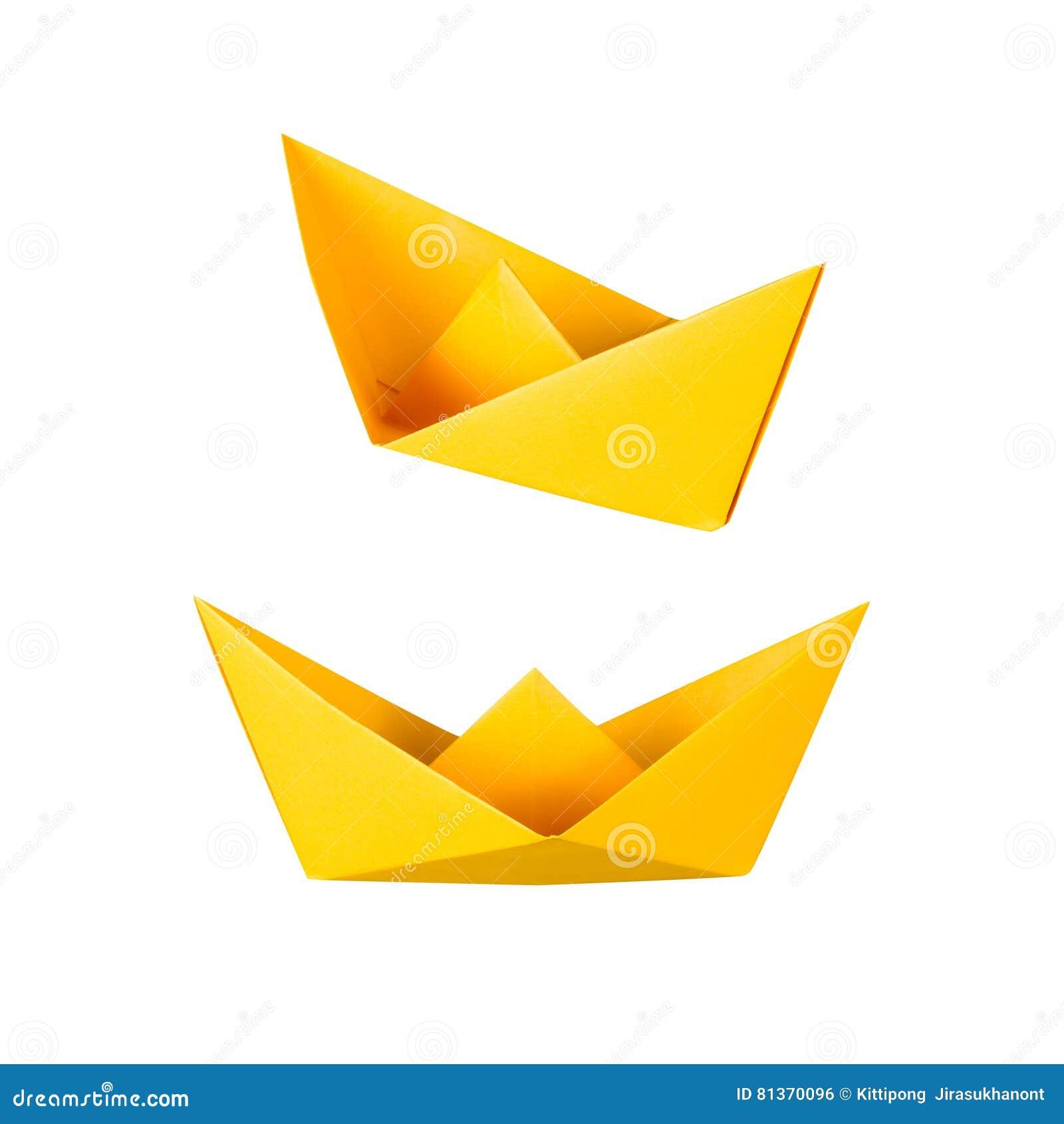 Origami barca o crogiolo di carta