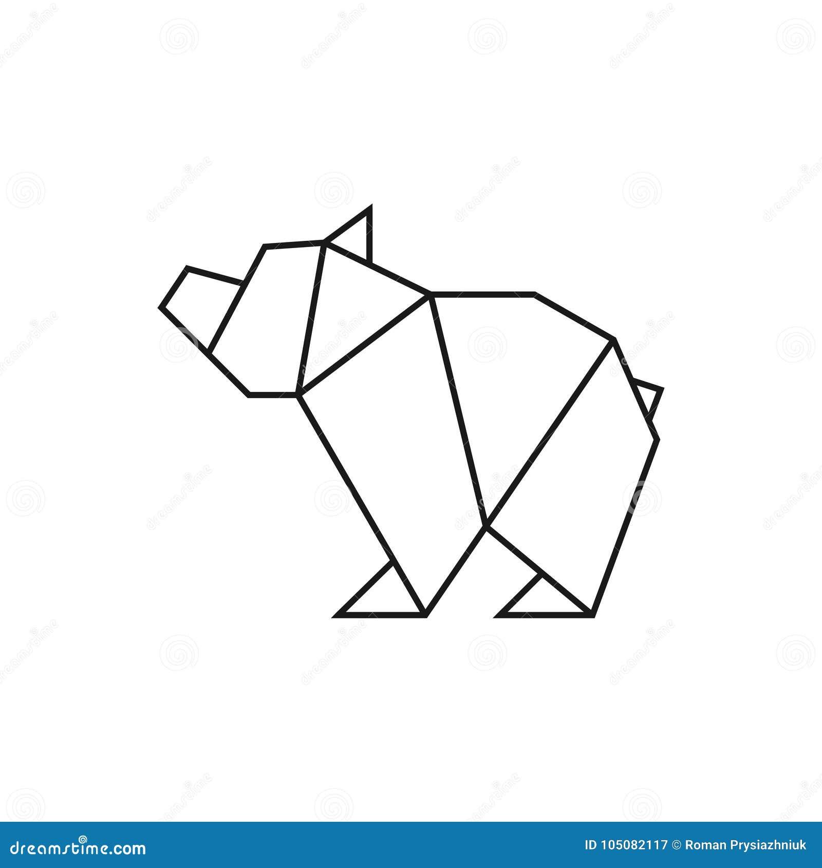 Terrific Origami Bear Geometric Line Shape For Art Of Folded Paper Logo Wiring 101 Olytiaxxcnl