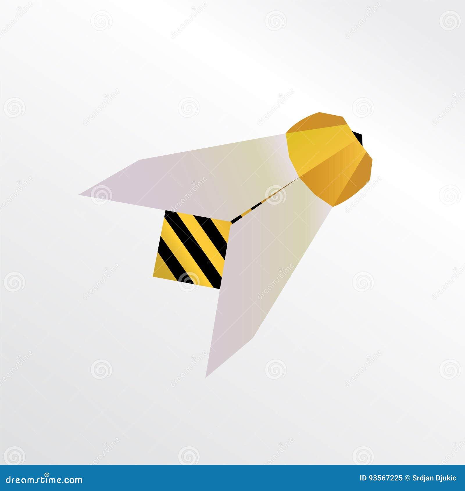 Origami Biene Stock Abbildung Illustration Von Fahne 93567225