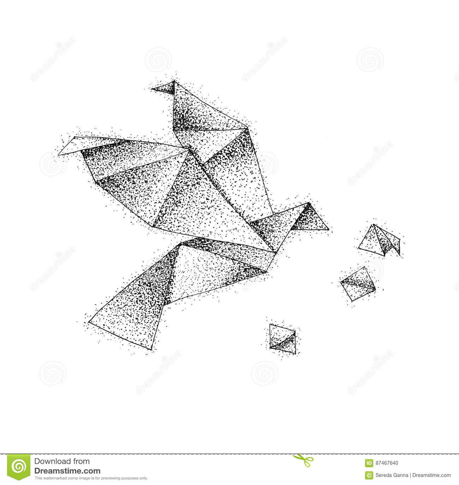 83  origami tiger drawing