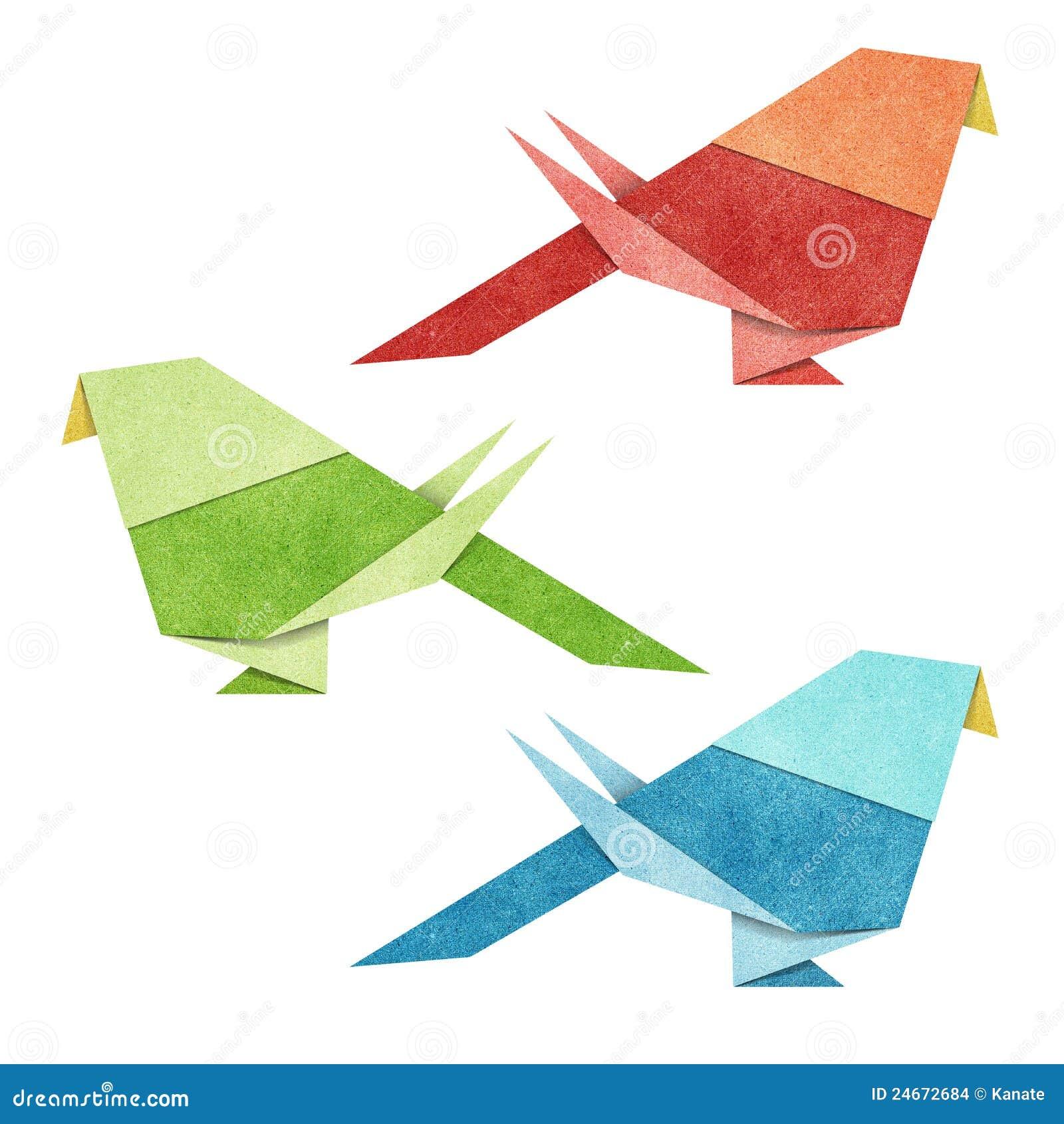 Origami Bird Recycle Papercraft Stock Images - Image: 24672684
