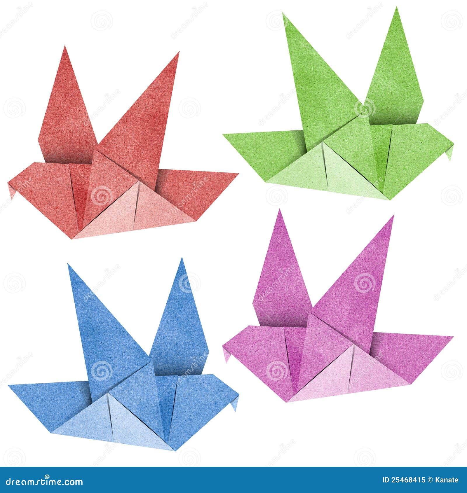Origami Bird Recycled Papercraft Stock Illustration ... - photo#30