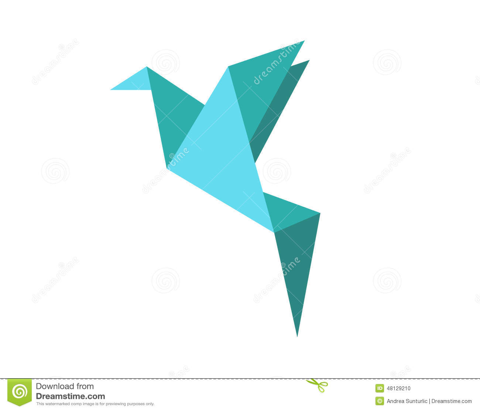 Origami Bird Shape Stock Illustration Illustration Of Triangle