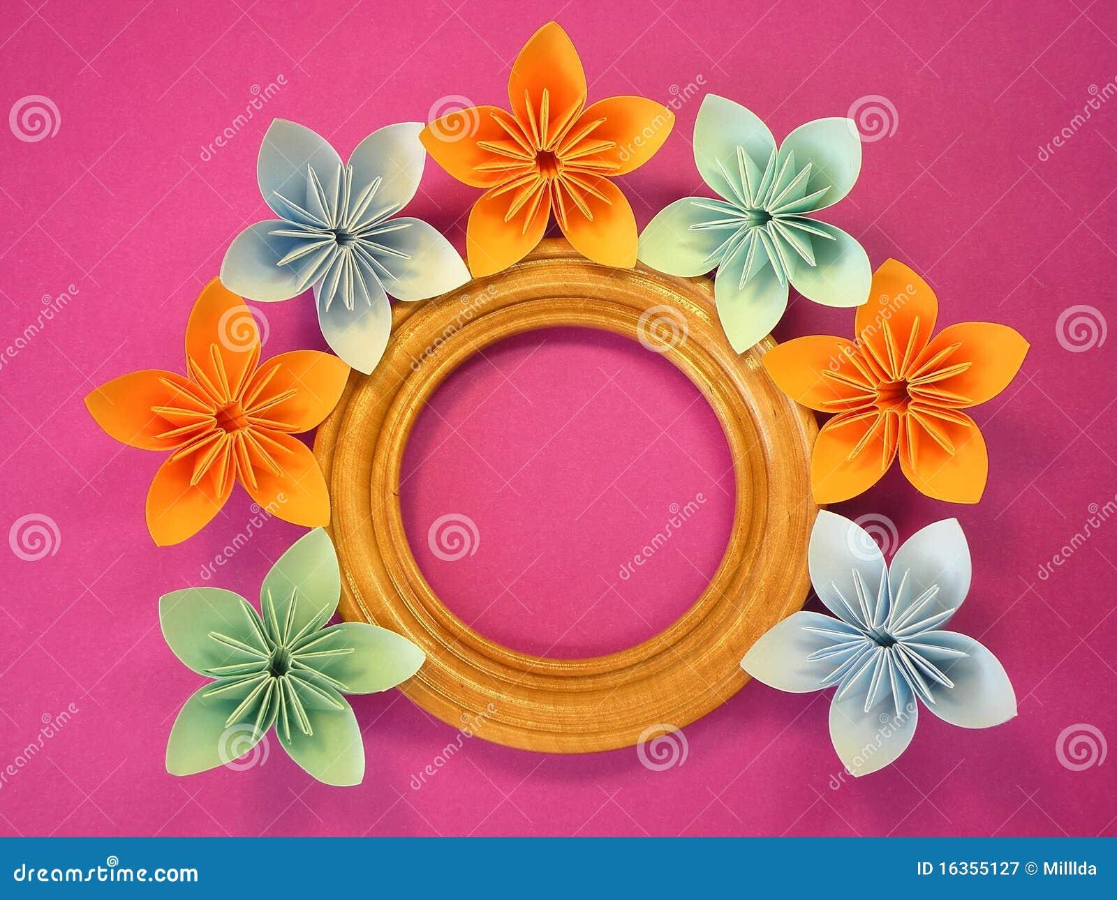 Origami Blumen Lizenzfreie Stockfotografie - Bild: 16355127