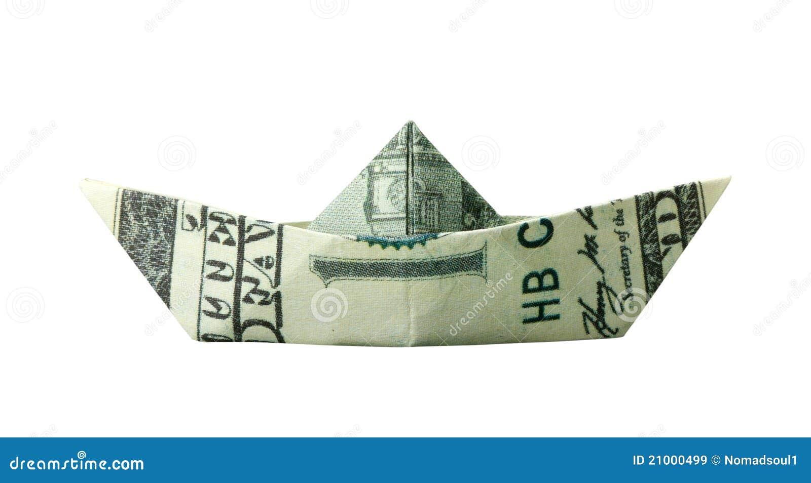 Dollar Bill Boat Origami