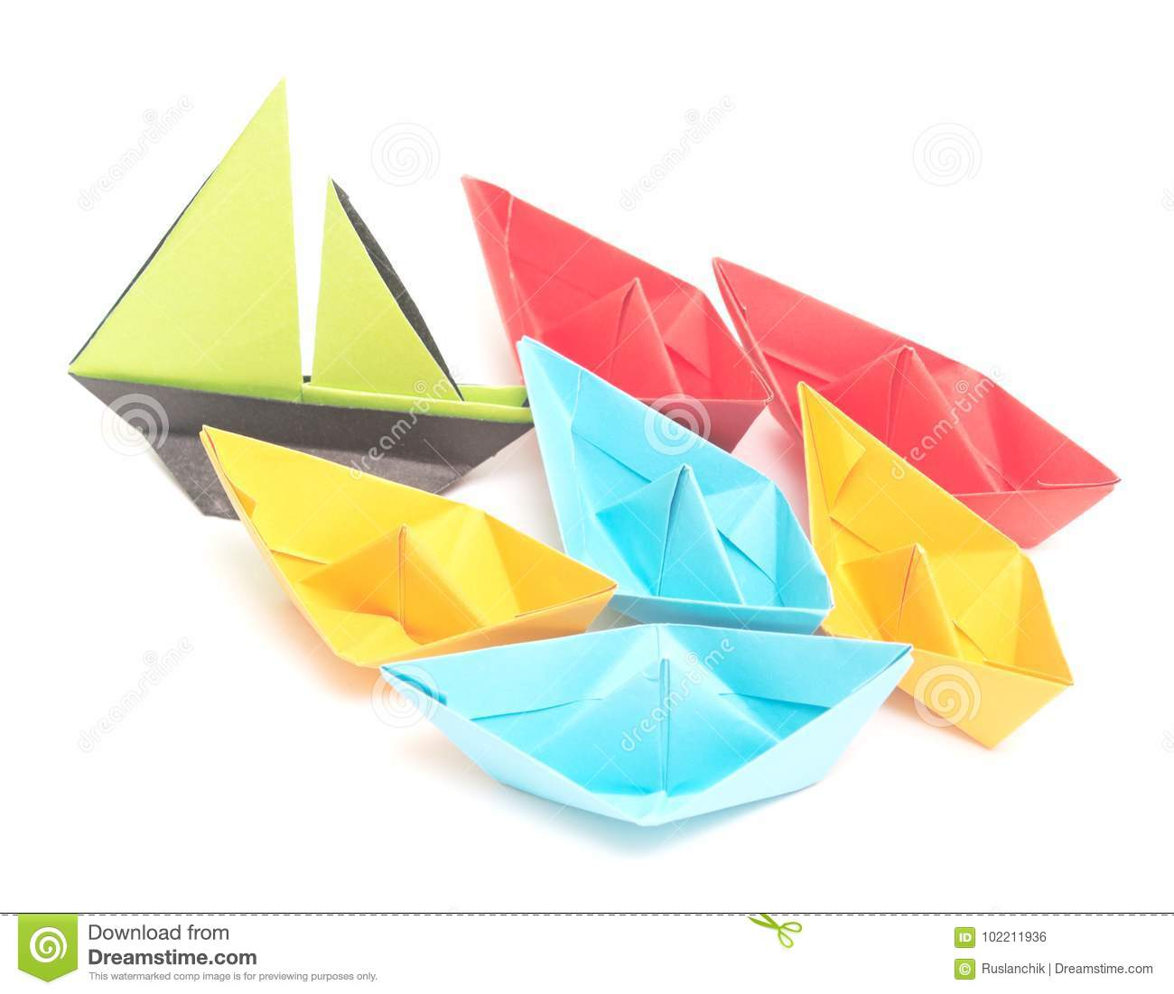 Origami Boats Stock Photo Image Of Isolated Sail Boats 102211936
