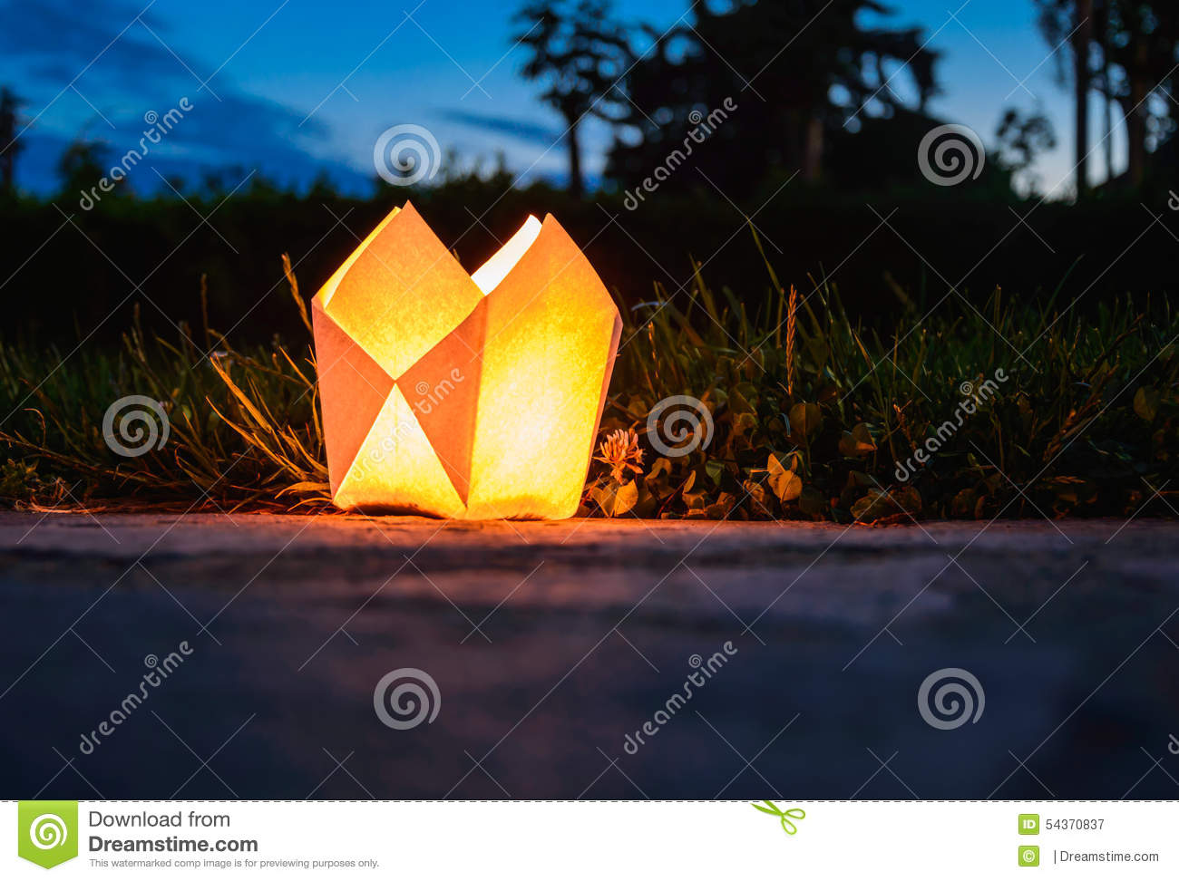 Origami Candle Holder Stock PhotoImage54370837
