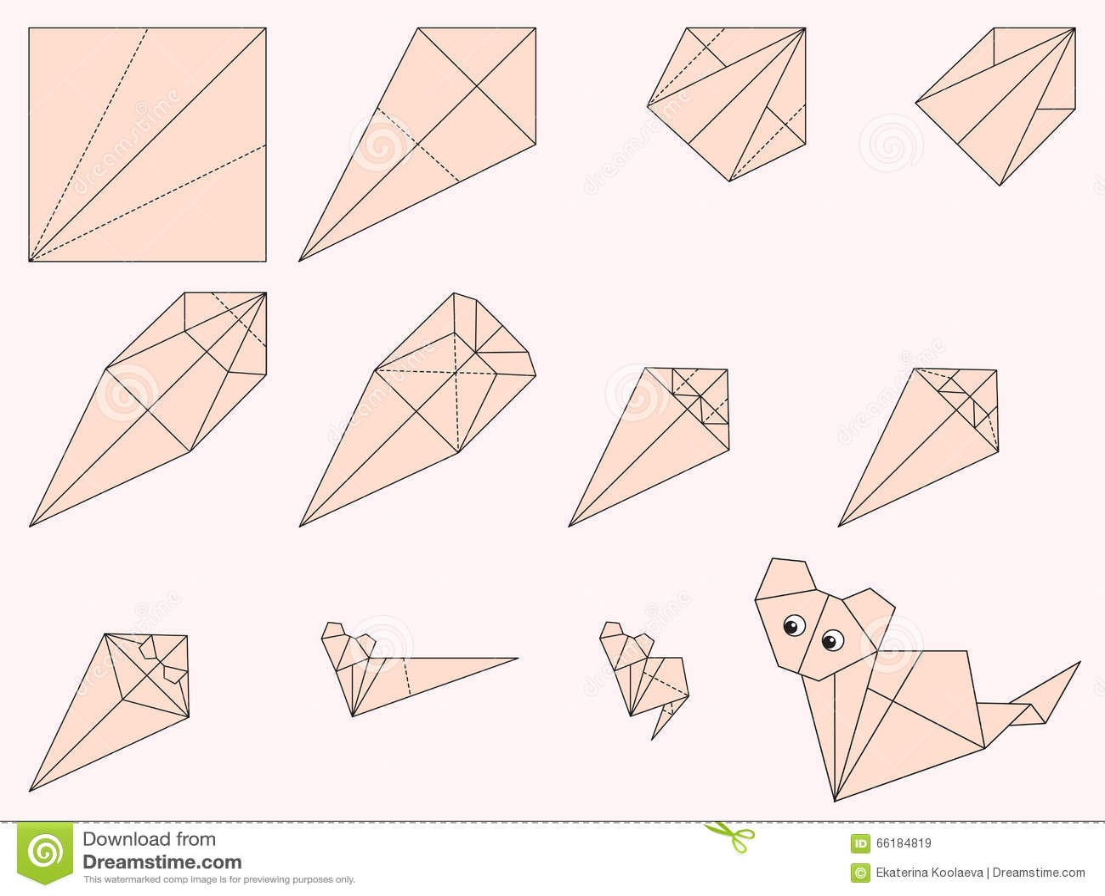 Mini Origami Cat Pendant | 1072x1300
