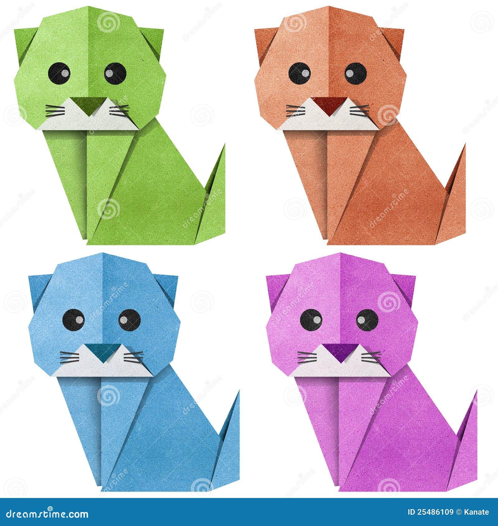 Как сделать из бумаги кошку легче
