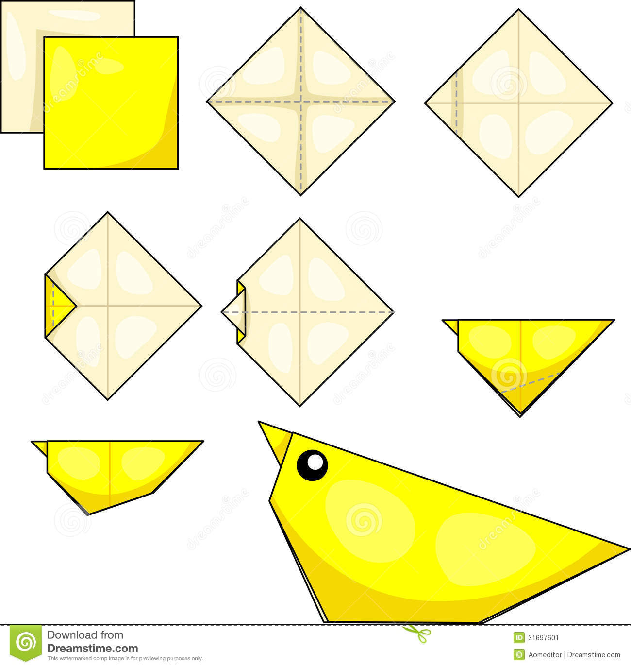 Origami Chick Stock Image - Image: 31697601