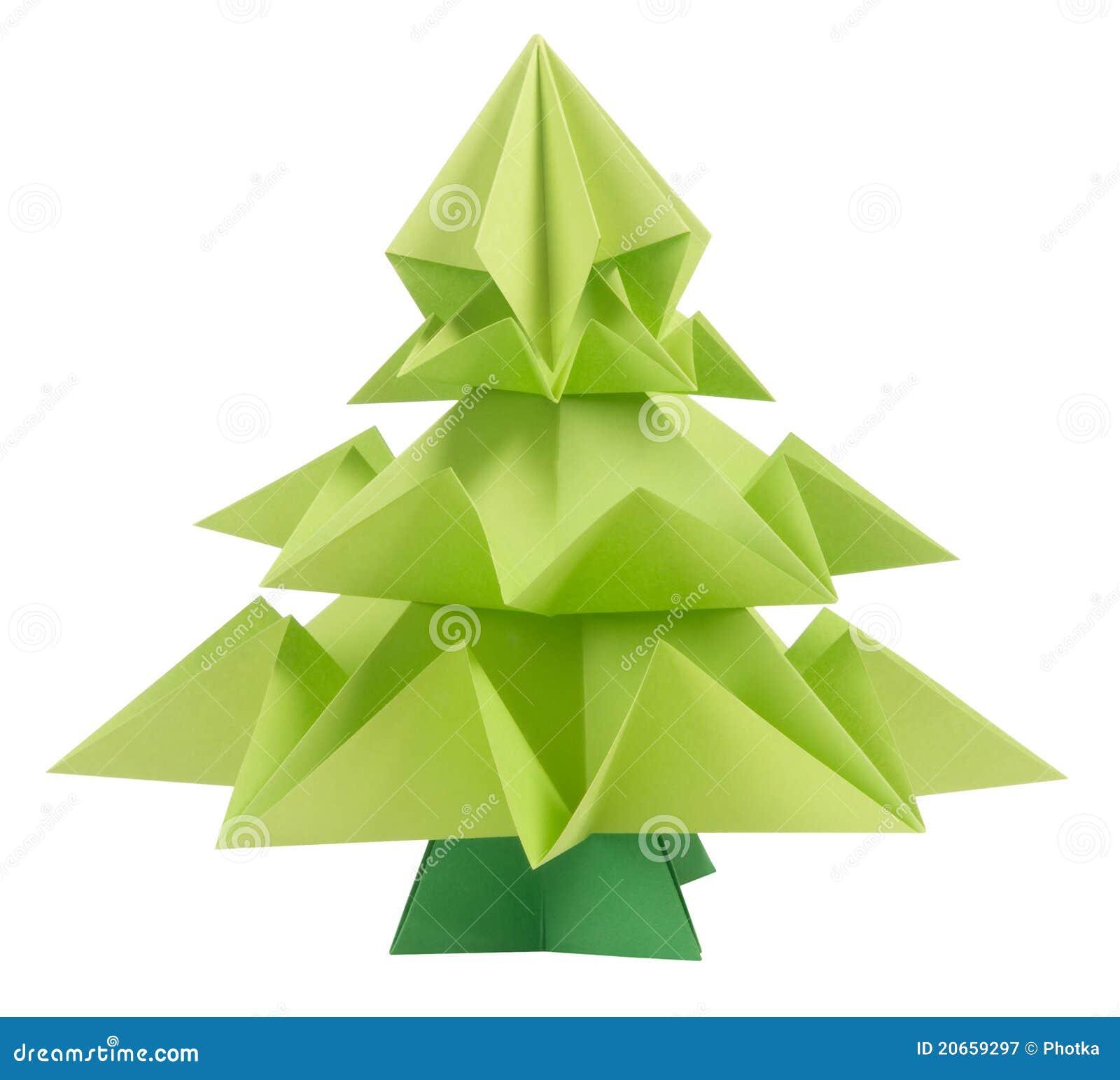 Origami Christmas Tree Royalty Free Stock Photography - Image ...