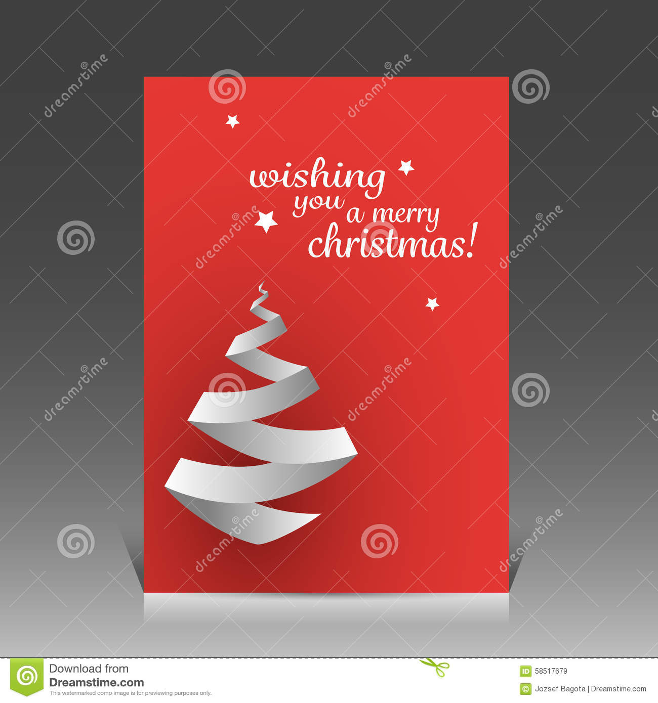 origami christmas tree card or flyer design template stock vector origami christmas tree card or flyer design template