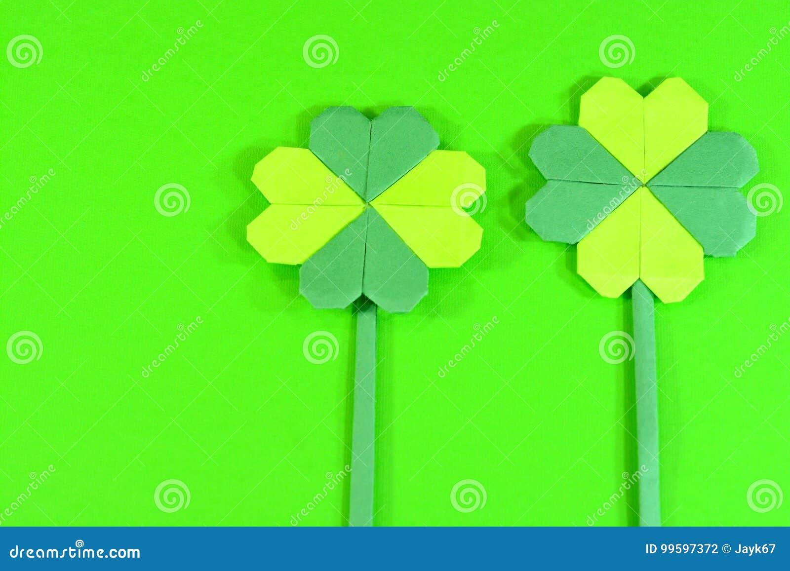 Origami 4 Leaf Clover- How to make an origami four leaf clover ... | 957x1300