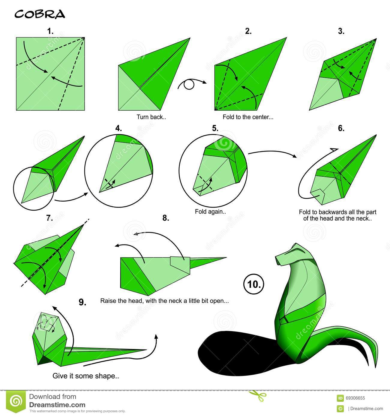 simple origami dragon instructions