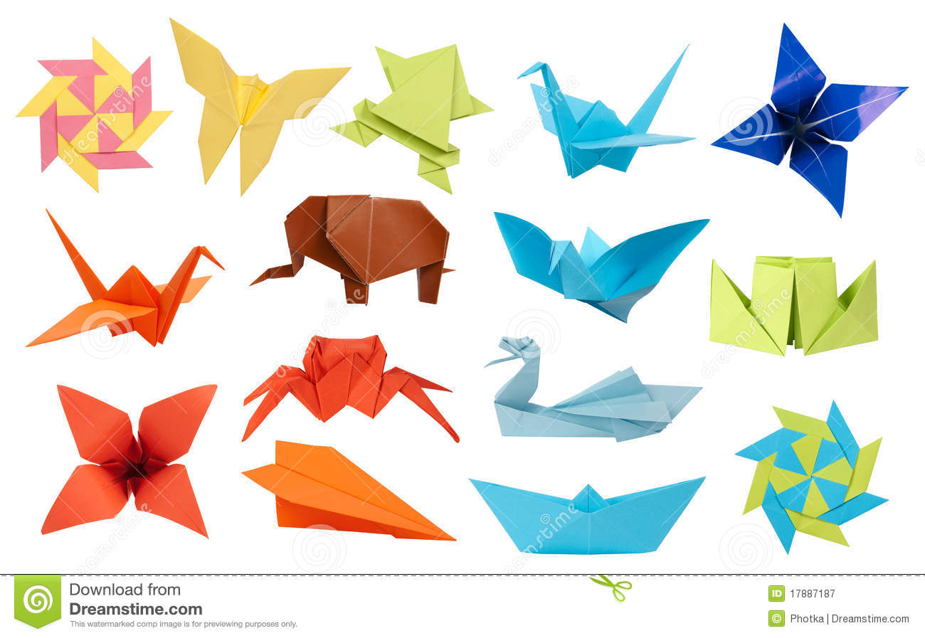 Origami paper fish stock photo image of fish japanese 19462716 origami collection royalty free stock photography jeuxipadfo Choice Image