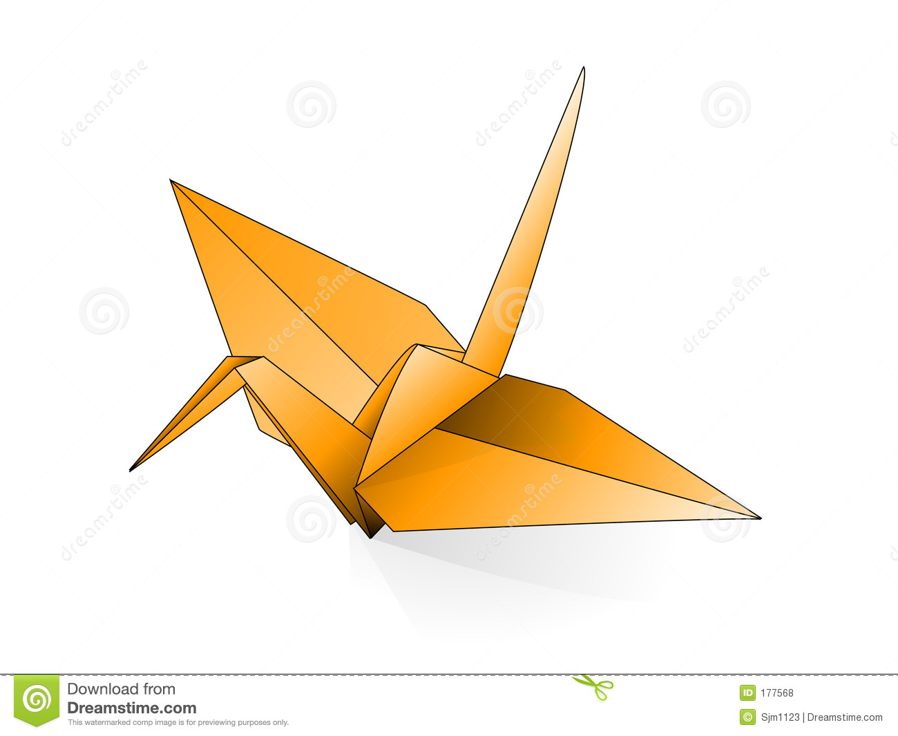 Origami Crane Stock Vector Image Of Paperfolding
