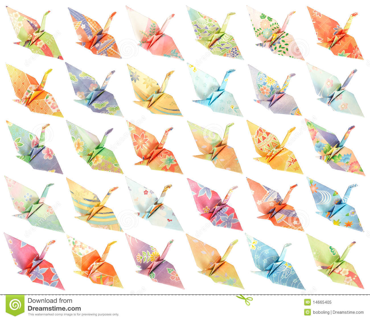 origami cranes pattern stock image image of white