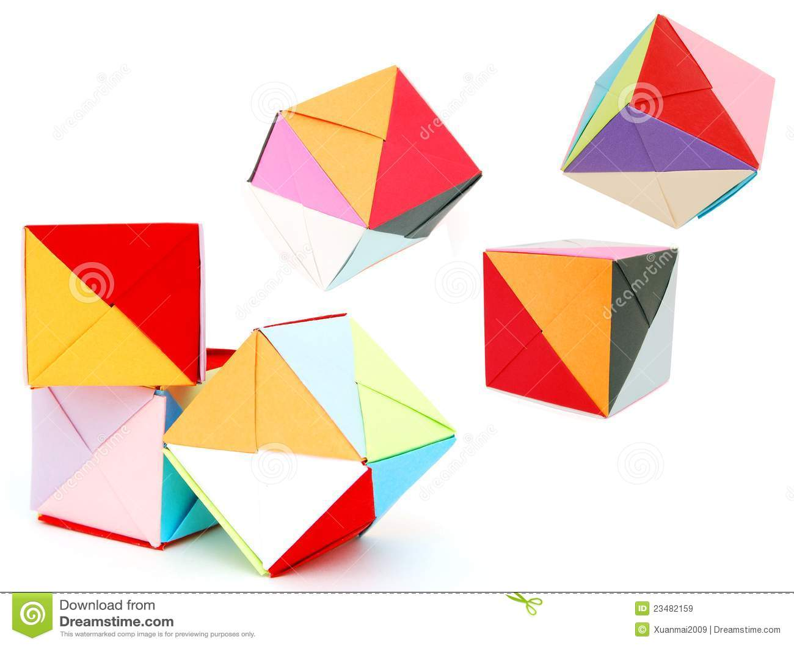 Origami Cube Stock Image Image Of Origami Square School 23482159