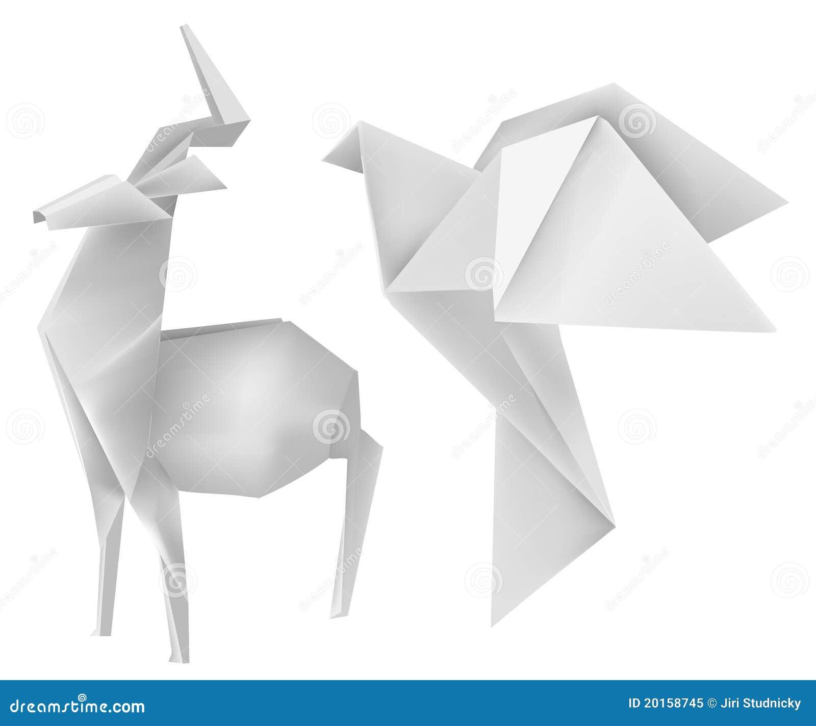 Origami_deer_dove Royalty Free Stock Photo - Image: 20158745 - photo#37