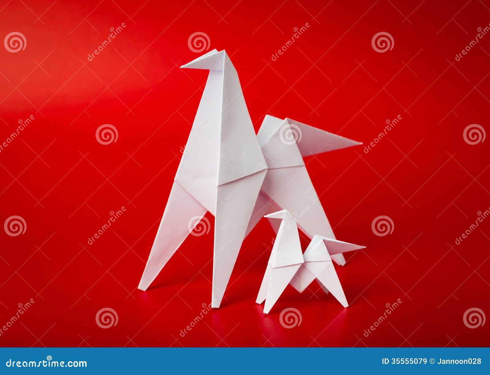 Origami Des Neuen Jahres 2014 Tapeziert Pferd Stock Abbildung ...