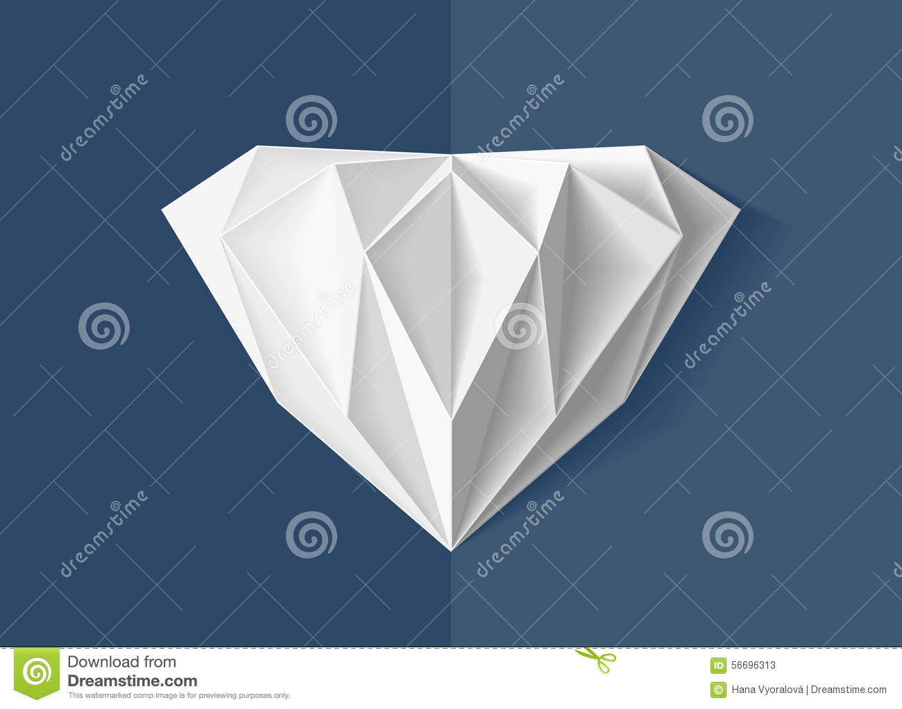 Origami Diamond Stock Illustration Of Royal