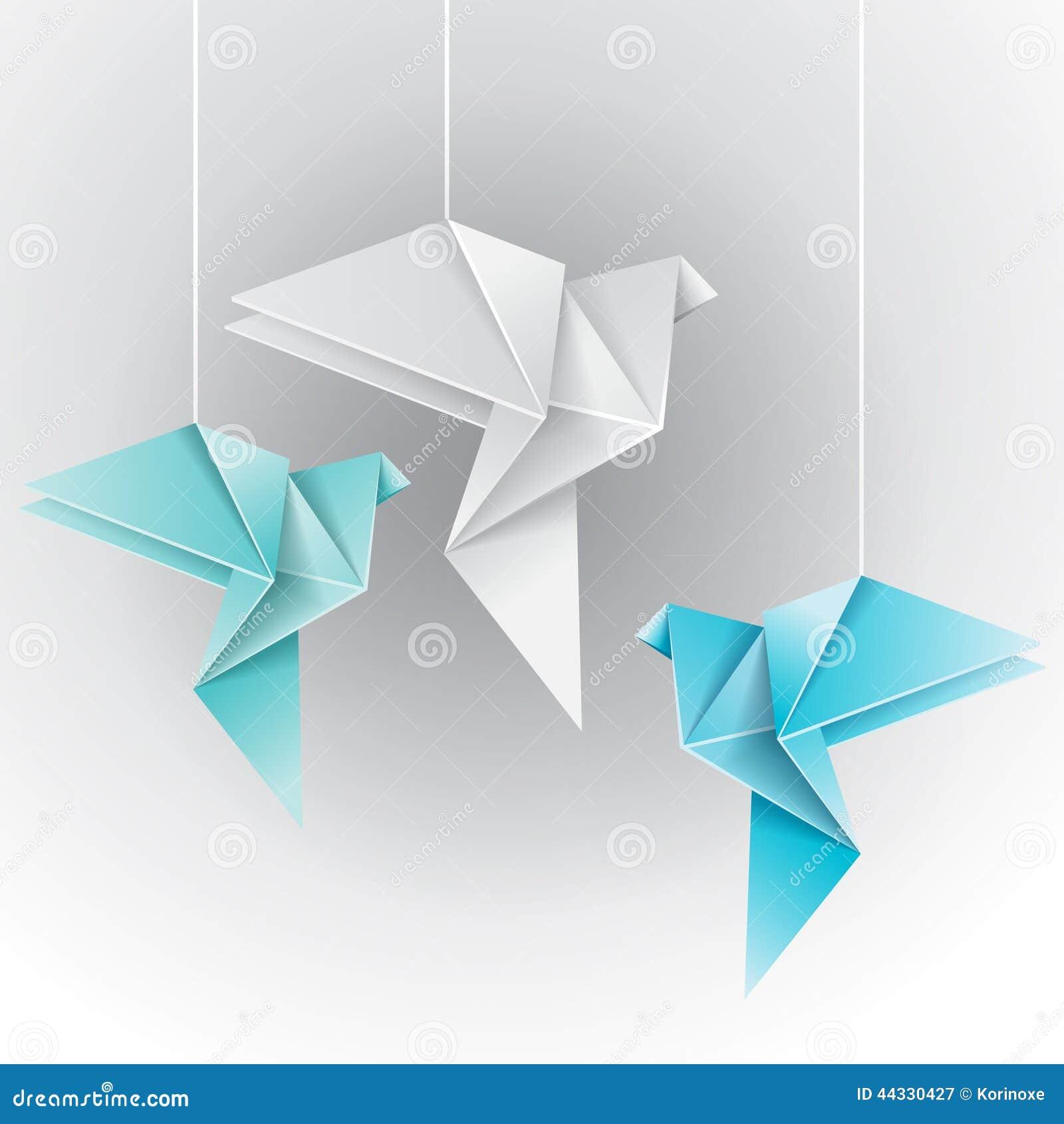 Origami Different Color Dove Stock Vector - Image: 44330427 - photo#38