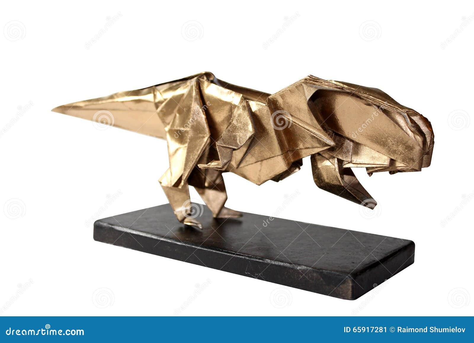 Origami Dinosaurus T Rex | Tutorial Origami Handmade - photo#36
