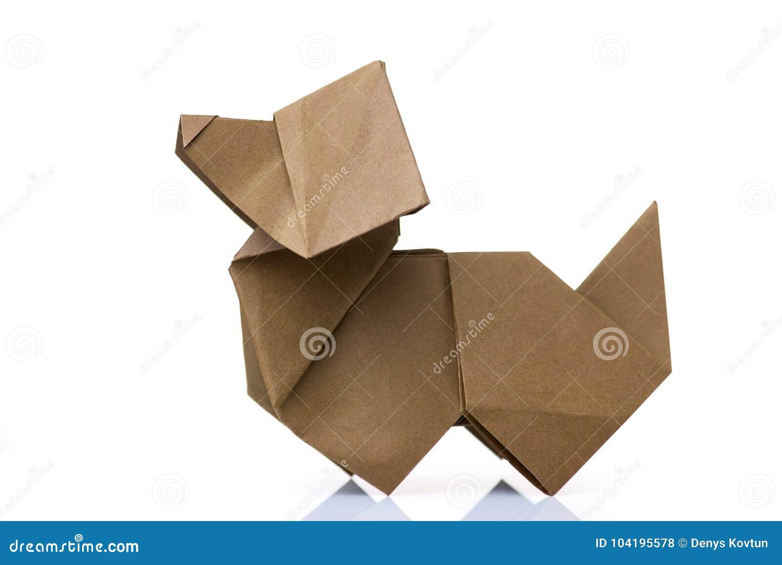 Origami Dog On White Background Stock Photo Image Of Contest