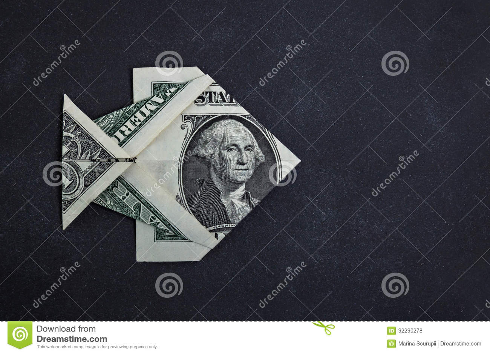 Origami dollar fish stock photo image of sign image 92290278 origami dollar fish jeuxipadfo Choice Image