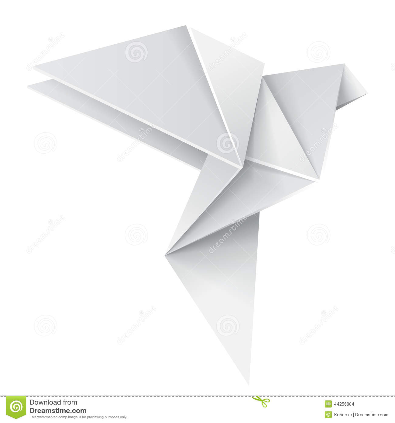 Origami dove stock vector. Illustration of folded ... - photo#26
