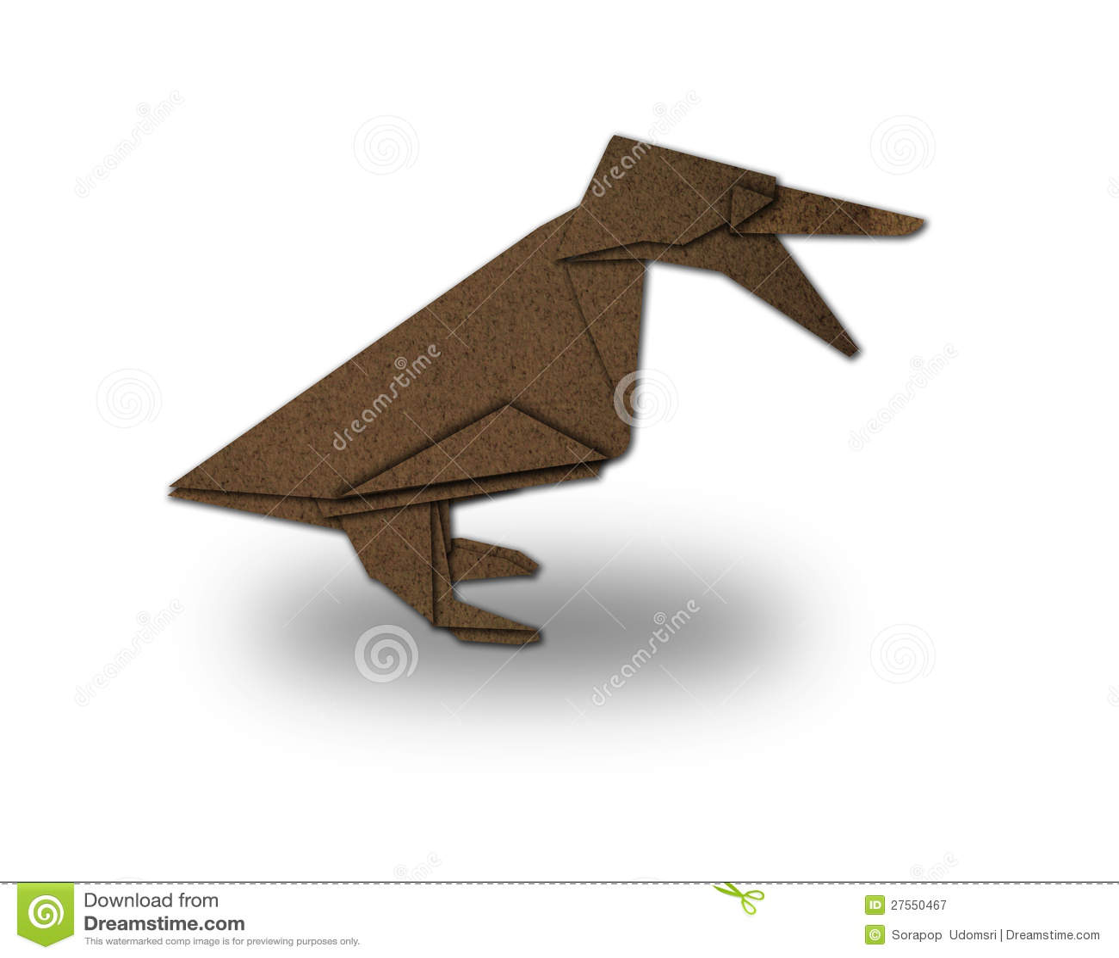 Origami Duckling Made Of Paper Stock Illustration Illustration Of