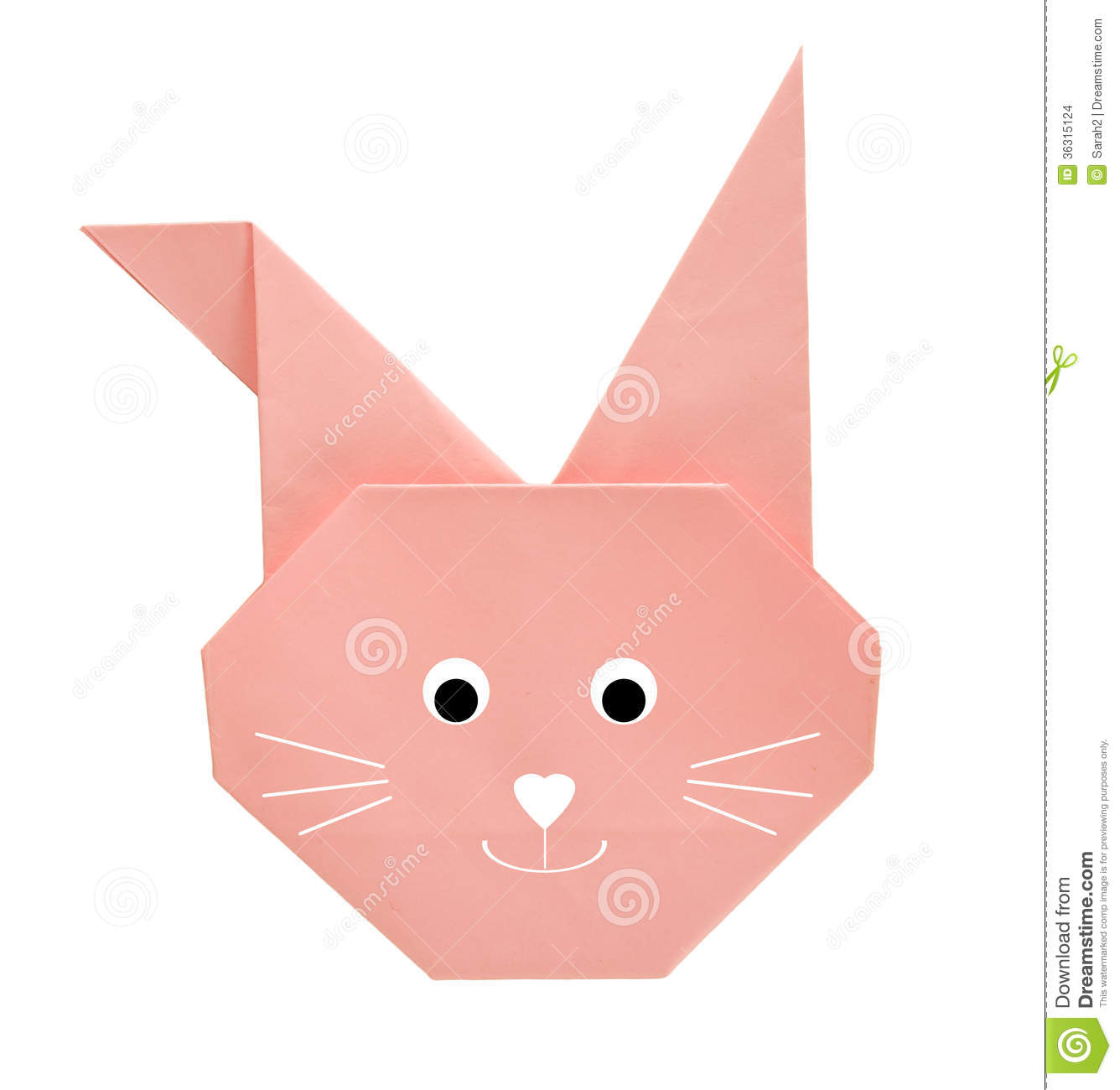 Origami Easter Bunny Rabbit