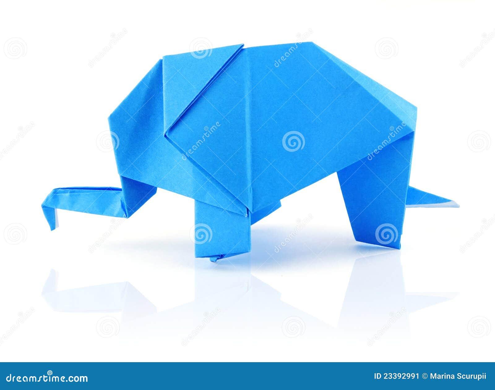 origami elefant stockbild bild 23392991. Black Bedroom Furniture Sets. Home Design Ideas
