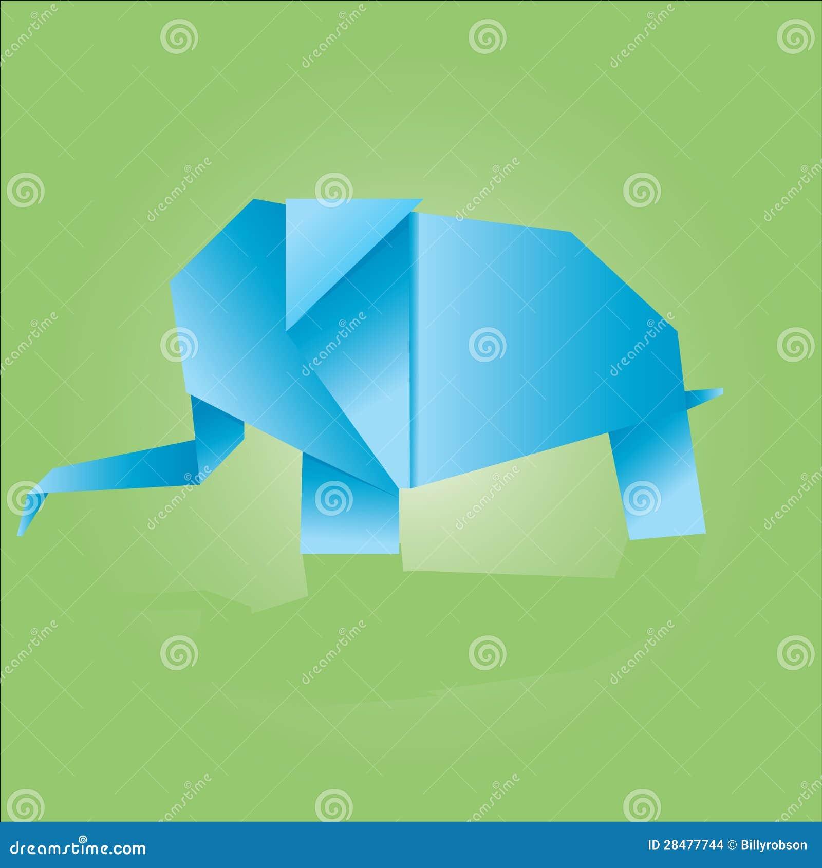 origami elefant stockbilder bild 28477744. Black Bedroom Furniture Sets. Home Design Ideas