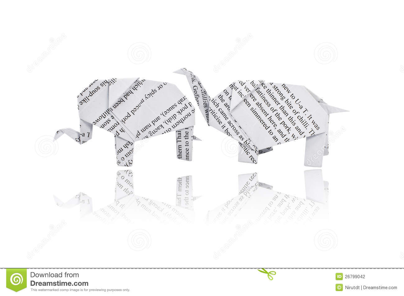 Origami Elephant Stock Photo Image Of Young White