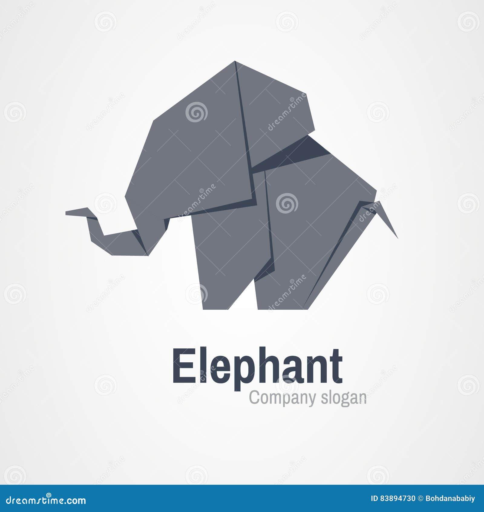 Origami elephant logo stock vector illustration of icon 83894730 origami elephant logo jeuxipadfo Choice Image